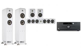 ARCAM AVR390 + POLK AUDIO S55E + S35E 5.0 WH