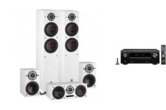DENON AVR-X2600H DAB + DALI OBERON 7  WH 5.0