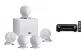 DENON AVR-S650H + CABASSE ALCYONE 2 SYSTEM 5.1 białe