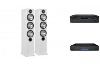 CAMBRIDGE AUDIO SR10V2 + CD5 +MONITOR AUDIO BRONZE 6 W