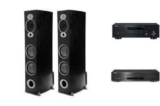 YAMAHA R-N303D + CD-S700 + POLK AUDIO RTiA7