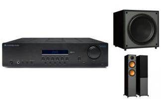 CAMBRIDGE AUDIO SR10V2 + MONITOR AUDIO MONITOR 200 + MRW-10