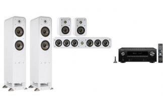 DENON AVR-X2600H DAB + POLK AUDIO S55E + S35E 5.0 W