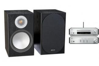 YAMAHA N670D S + MONITOR AUDIO SILVER 100