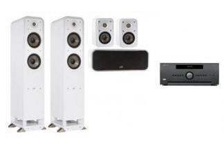 ARCAM AVR550 + POLK AUDIO S55E 5.0 WH