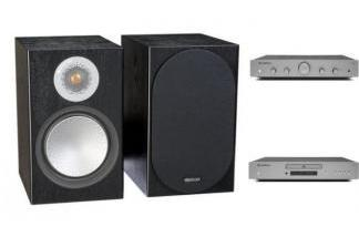 CAMBRIDGE AUDIO AXA25 + AXC25 + MONITOR AUDIO SILVER 100