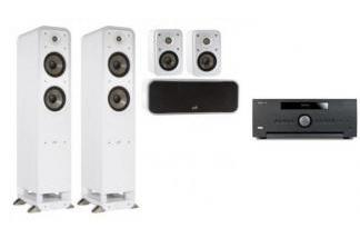 ARCAM AVR390 + POLK AUDIO S55E WHT SET 5.0