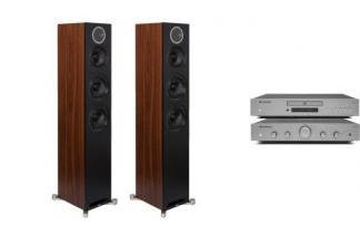 CAMBRIDGE AUDIO AXA25 + AXC25 + ELAC REFERENCE F5