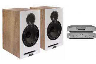 CAMBRIDGE AUDIO AXA25 + AXC25 + ELAC REFERENCE B6 dąb