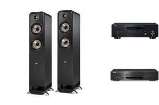 YAMAHA R-N303D + CD-S700 + POLK AUDIO S55E