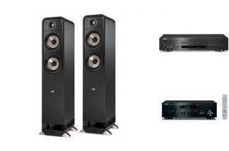YAMAHA R-N402D + CD-S700 + POLK AUDIO S55E