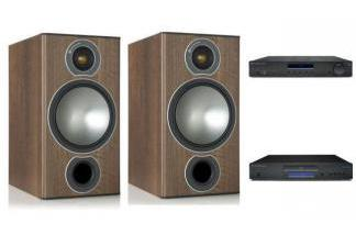 CAMBRIDGE AUDIO AM10 + CD5 + MONITOR AUDIO BRONZE 2