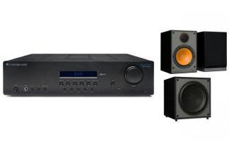 CAMBRIDGE AUDIO SR10V2 + MONITOR AUDIO MONITOR 100 + MRW-10