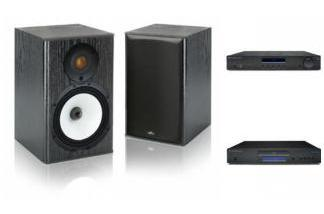 CAMBRIDGE AUDIO AM10 + CD10 + MONITOR AUDIO MR1