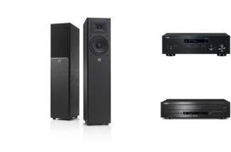 YAMAHA R-N303D + CD-C600 + JBL ARENA 170