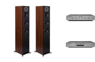 CAMBRIDGE AUDIO AXA25 + AXC35 + ELAC REFERENCE F5